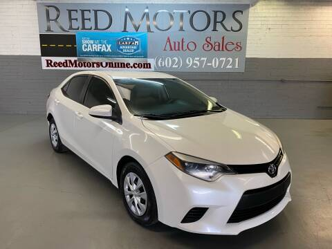 2014 Toyota Corolla for sale at REED MOTORS LLC in Phoenix AZ