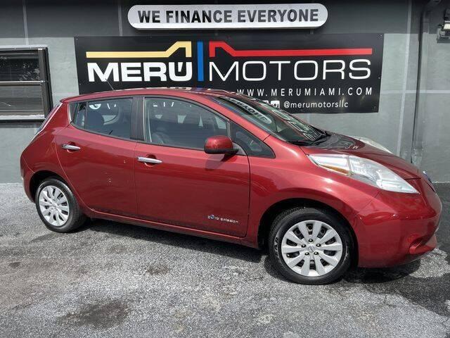 2015 Nissan LEAF for sale in Hollywood, FL