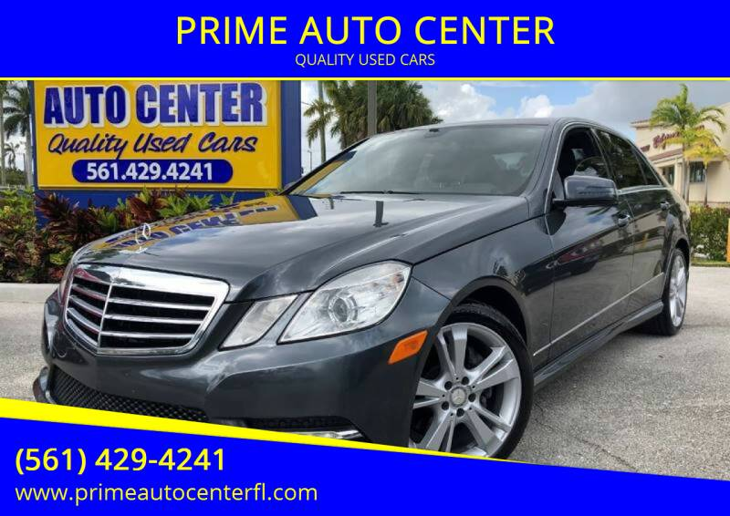 2013 Mercedes-Benz E-Class for sale at PRIME AUTO CENTER in Palm Springs FL