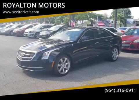 2016 Cadillac ATS for sale at ROYALTON MOTORS in Plantation FL