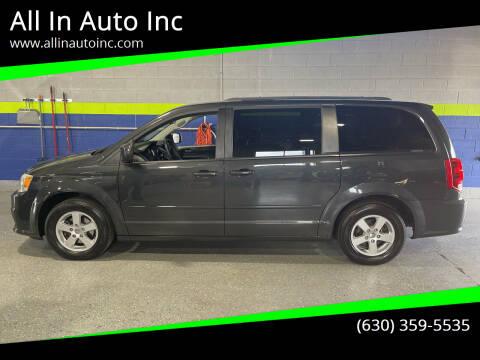 2012 Dodge Grand Caravan for sale at All In Auto Inc in Addison IL
