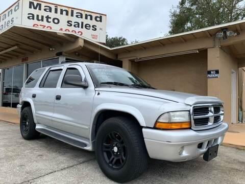 2003 Dodge Durango for sale at Mainland Auto Sales Inc in Daytona Beach FL