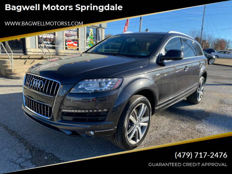 2014 Audi Q7 for sale at Bagwell Motors Springdale in Springdale AR