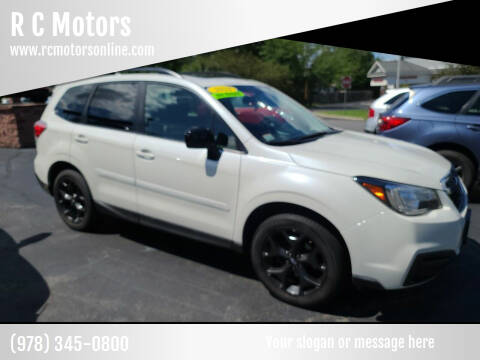 2018 Subaru Forester for sale at R C Motors in Lunenburg MA