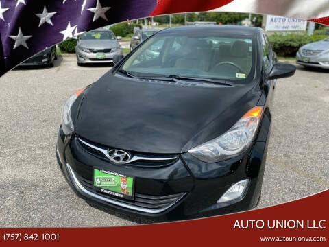 2013 Hyundai Elantra for sale at Auto Union LLC in Virginia Beach VA