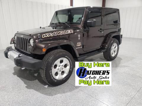 2013 Jeep Wrangler for sale at Hatcher's Auto Sales, LLC - Buy Here Pay Here in Campbellsville KY