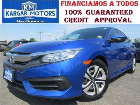 2017 Honda Civic for sale at Kargar Motors of Manassas in Manassas VA