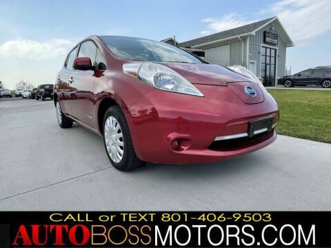 2013 Nissan LEAF for sale at Auto Boss in Woods Cross UT
