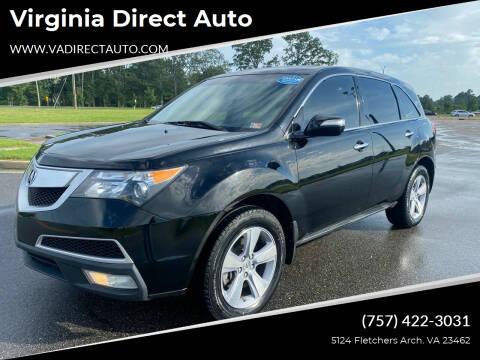 2011 Acura MDX for sale at Virginia Direct Auto in Virginia Beach VA
