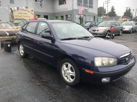 2002 Hyundai Elantra for sale at American Dream Motors in Everett WA