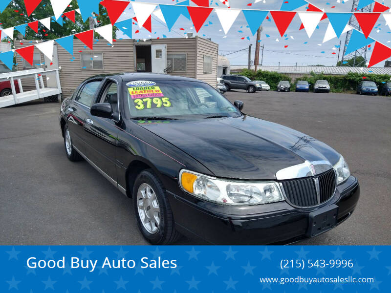 2001 Lincoln Town Car for sale at Good Buy Auto Sales in Philadelphia PA