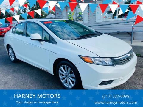 2012 Honda Civic for sale at HARNEY MOTORS in Gettysburg PA