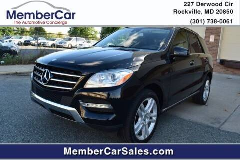 2015 Mercedes-Benz M-Class for sale at MemberCar in Rockville MD