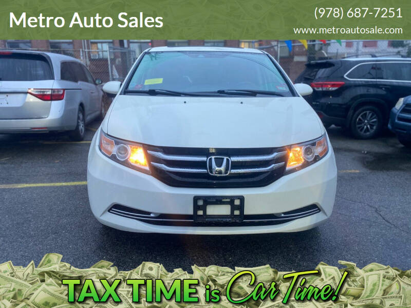 2014 Honda Odyssey for sale at Metro Auto Sales in Lawrence MA