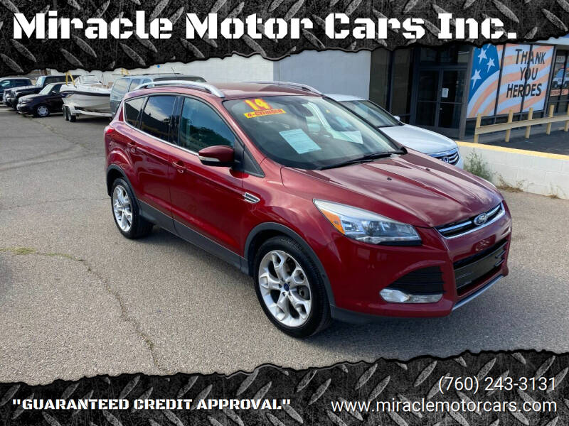 2014 Ford Escape for sale at Miracle Motor Cars Inc. in Victorville CA