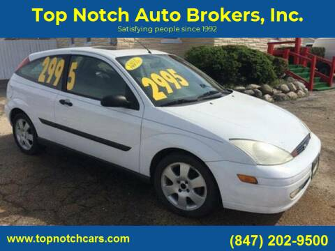 2001 Ford Focus for sale at Top Notch Auto Brokers, Inc. in Palatine IL