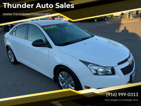 2012 Chevrolet Cruze for sale at Thunder Auto Sales in Sacramento CA