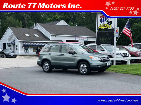 2010 Honda CR-V for sale at Route 77 Motors Inc. in Weare NH