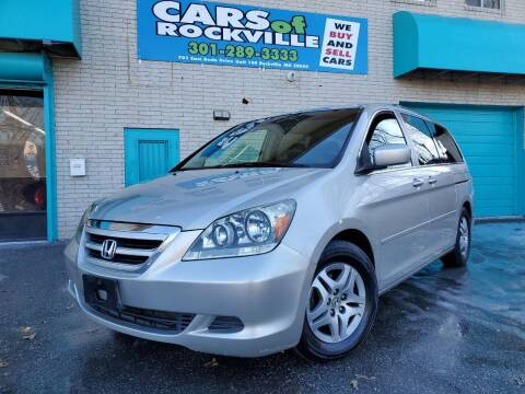 2005 Honda Odyssey for sale at Cars Of Rockville in Rockville MD