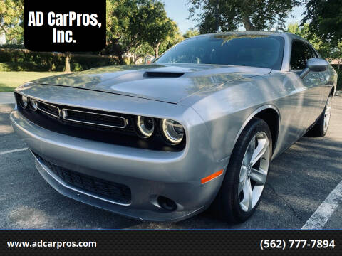 2015 Dodge Challenger for sale at AD CarPros, Inc. in Whittier CA