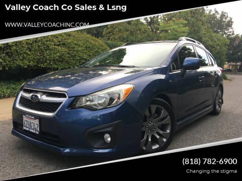2013 Subaru Impreza for sale at Valley Coach Co Sales & Lsng in Van Nuys CA