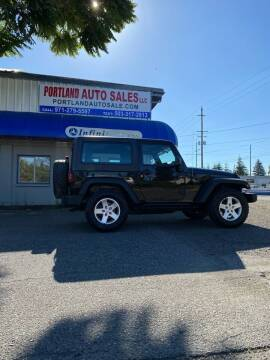 2015 Jeep Wrangler for sale at PORTLAND AUTO SALES LLC. in Portland OR