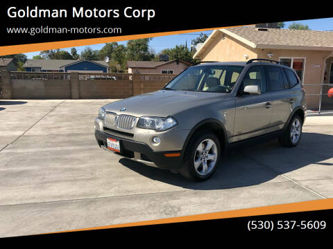 2008 BMW X3 for sale at Goldman Motors Corp in Stockton CA