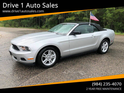 2010 Ford Mustang for sale at Drive 1 Auto Sales in Wake Forest NC