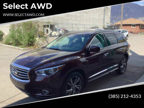 2013 Infiniti JX35 for sale at Select AWD in Provo UT