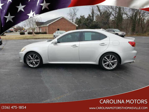 2008 Lexus IS 250 for sale at CAROLINA MOTORS in Thomasville NC