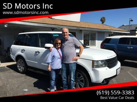 2011 Land Rover Range Rover for sale at SD Motors Inc in La Mesa CA