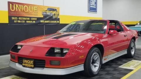 1986 Chevrolet Camaro for sale at UNIQUE SPECIALTY & CLASSICS in Mankato MN