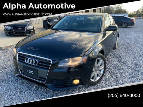 2011 Audi A4 for sale at Alpha Automotive in Odenville AL