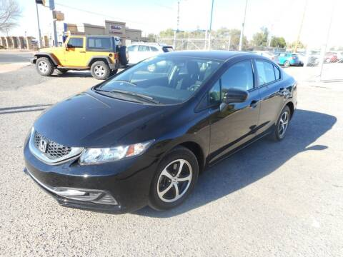 2015 Honda Civic for sale at AUGE'S SALES AND SERVICE in Belen NM