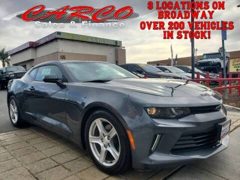 2017 Chevrolet Camaro for sale at CARCO SALES & FINANCE in Chula Vista CA