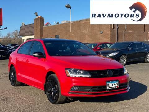 2018 Volkswagen Jetta for sale at RAVMOTORS in Burnsville MN