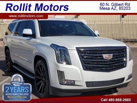 2016 Cadillac Escalade ESV for sale at Rollit Motors in Mesa AZ