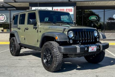 2016 Jeep Wrangler Unlimited for sale at Michaels Auto Plaza in East Greenbush NY