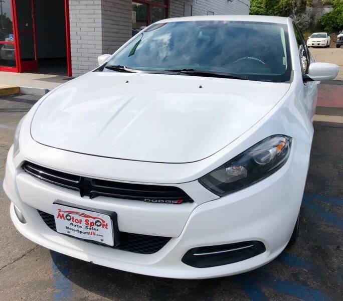 2015 Dodge Dart for sale at MotorSport Auto Sales in San Diego CA