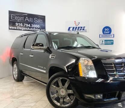 2012 Cadillac Escalade ESV for sale at Elegant Auto Sales in Rancho Cordova CA