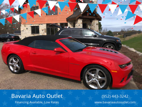 2015 Chevrolet Camaro for sale at Bavaria Auto Outlet in Victoria MN