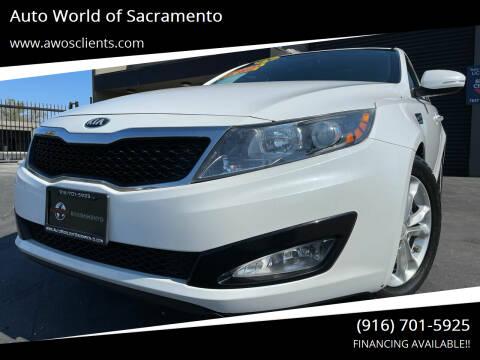 2013 Kia Optima for sale at Auto World of Sacramento Stockton Blvd in Sacramento CA