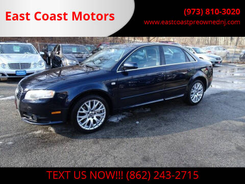2008 Audi A4 for sale at East Coast Motors in Lake Hopatcong NJ
