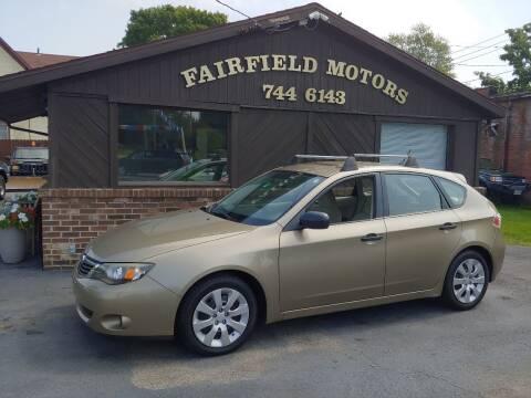 2008 Subaru Impreza for sale at Fairfield Motors in Fort Wayne IN