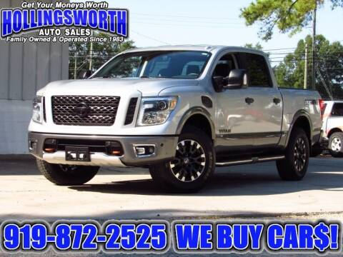 2017 Nissan Titan for sale at Hollingsworth Auto Sales in Raleigh NC