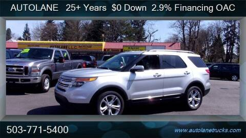 2013 Ford Explorer for sale at Auto Lane in Portland OR