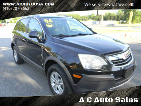 2009 Saturn Vue for sale at A C Auto Sales in Elkton MD