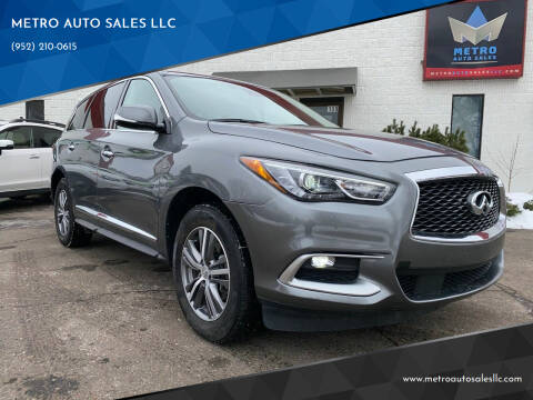 2020 Infiniti QX60 for sale at METRO AUTO SALES LLC in Blaine MN