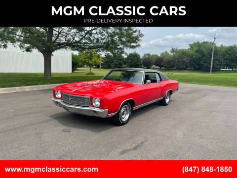 1970 Chevrolet Monte Carlo for sale at MGM CLASSIC CARS-New Arrivals in Addison IL