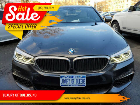 2018 BMW 5 Series for sale at LUXURY OF QUEENS,INC in Long Island City NY